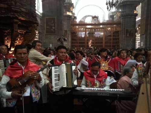 Chayñas' choir at the Catedral